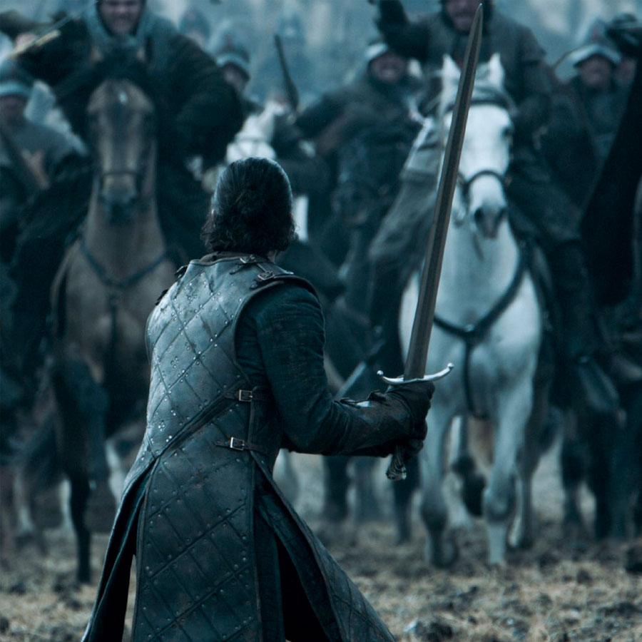 """Jon Snow en la pelea de """"Bastardos"""" por el Norte."""