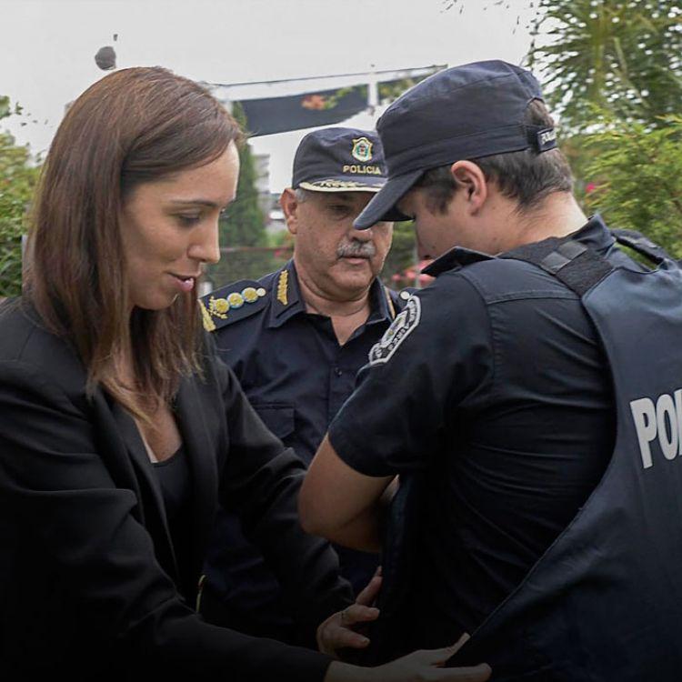 La mandatariaanalizó que no se trata solo de avanzar en cambios dentro de las fuerzas de seguridad, sino también al interior de la Justicia.