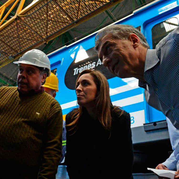 El lanzamiento se llevó a cabo en el taller ferroviario de la localidad bonaerense de Llavallol