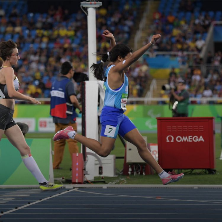 Yanina tiene parálisis cerebral y realizó un tiempo 14.66 segundos para quedarse con el triunfo