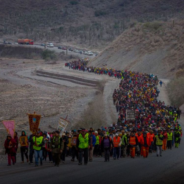 """Según el monseñor Dante Bernacki """"duplicó"""" la cantidad de viajantes del año pasado,emprendieron ayer el último tramo de sus trayectos."""