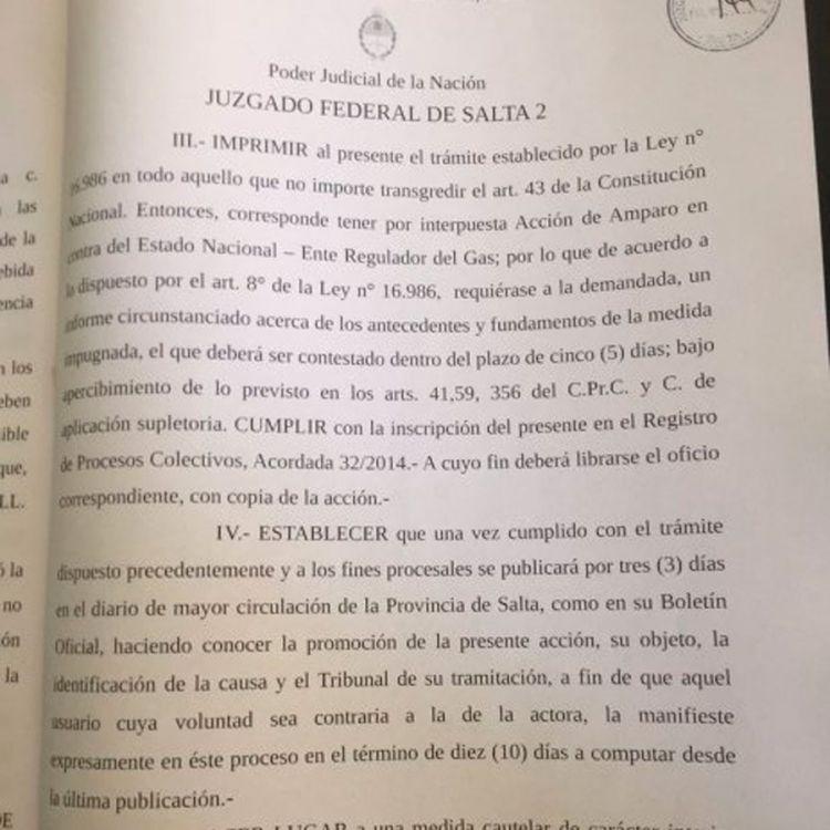El Juzgado Federal Nº2 a cargo de Miguel Medina hizo lugar al recurso de amparo para frenar el tarifazo del gas.
