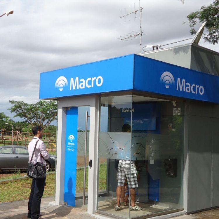 Los cajeros automáticos del Banco Macro se encuentran desabastecidos.