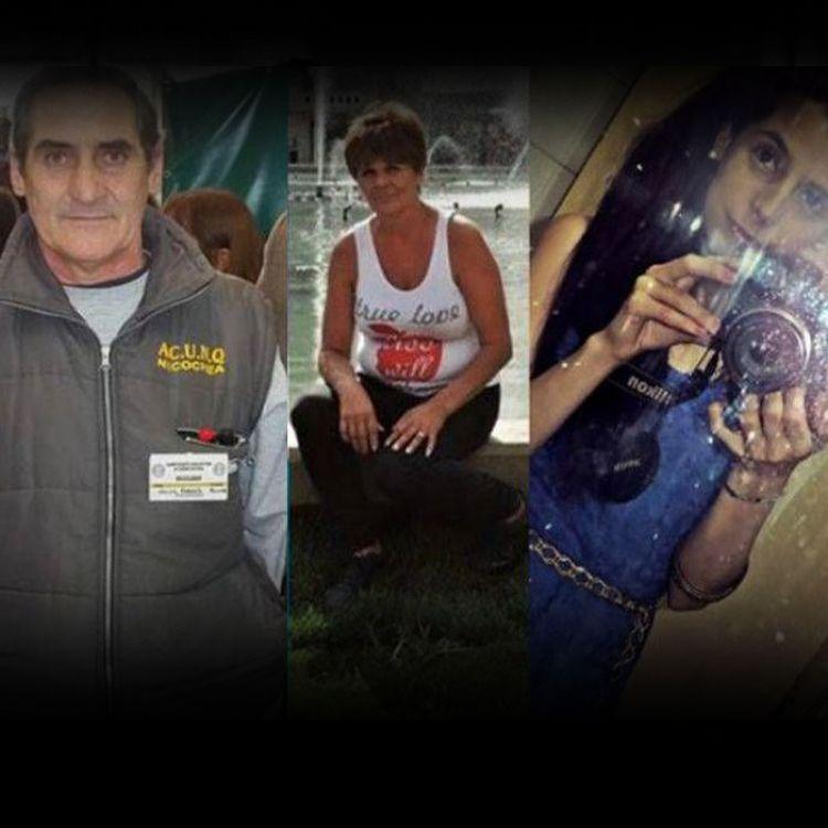 Roberto Vecino, a la izquierda, mató a su familia y a su vecino. Luego se ahorcó.