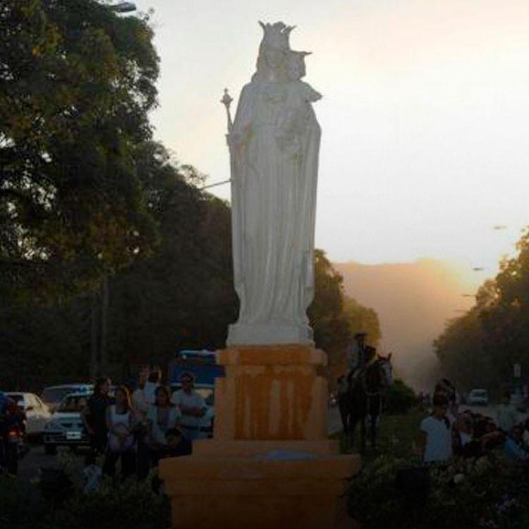 Desde la Municipalidad indicaron que aprovecharán la ocasión para restaurar la imagen, tarea que le fue encomendada a un escultor.