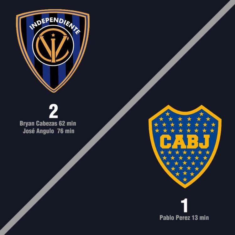 Boca perdío 2-1 frente a Independiente del Valle