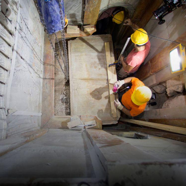 La restauración está a cargo de un equipo de científicos de laUniversidad Técnica Nacional de Atenas.