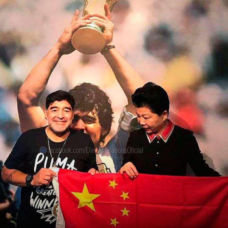 Maradona aceptó la oferta y será el nuevo embajador de la Superliga China