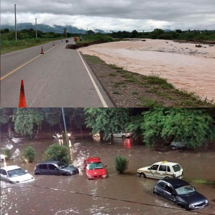 La lluvia castigan otra vez al norte argentino