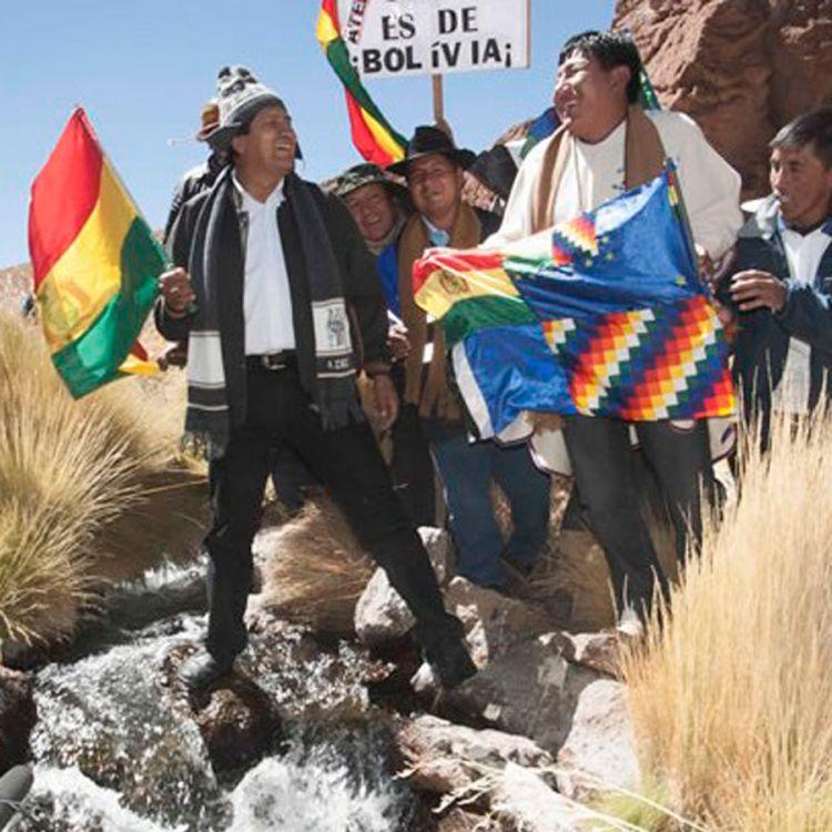 Evo Morales, presidente de Bolivia en el festejo