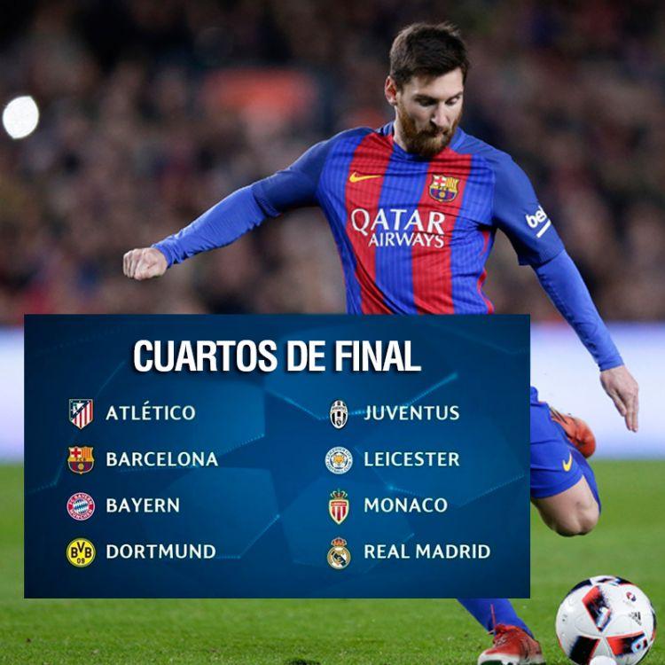 Quedaron definidos los duelos de cuartos de final de la Champions League