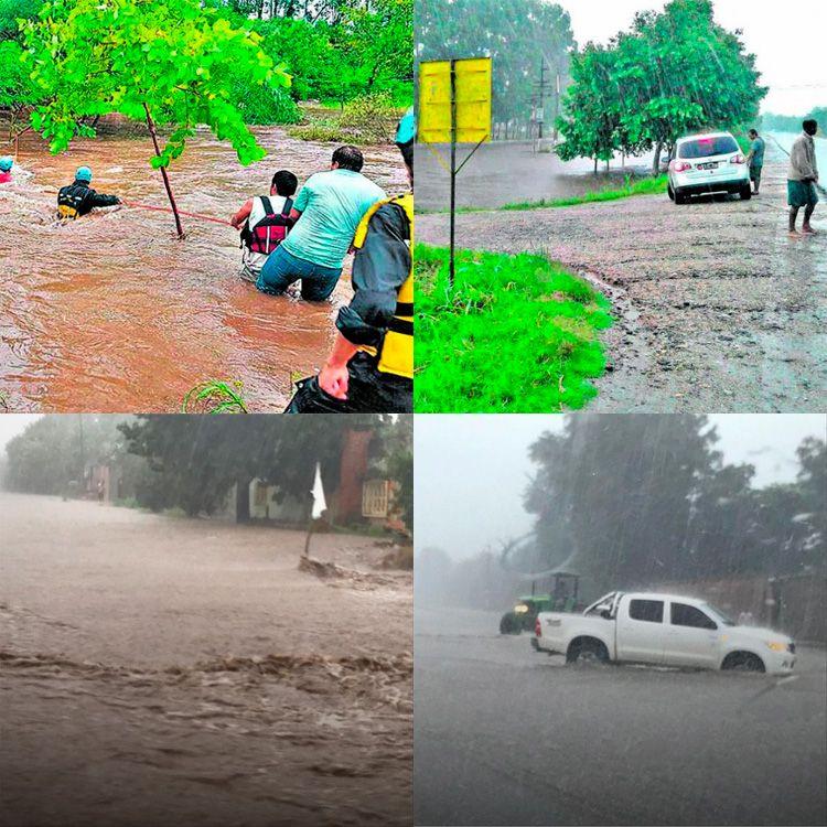 El sur de Tucumán afectado por intensas lluvias