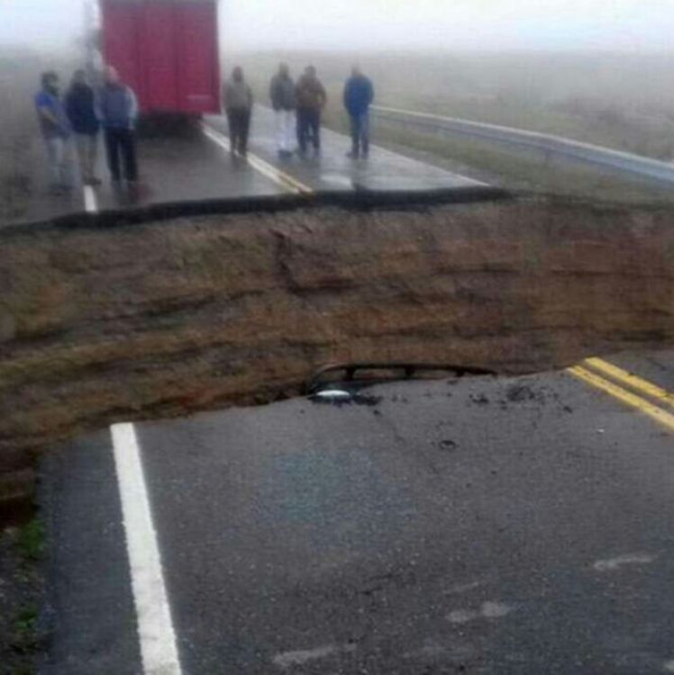 Ruta 3 cortada. Tierra del Fuego y Santa Cruz incomunicadas por vía terrestre.