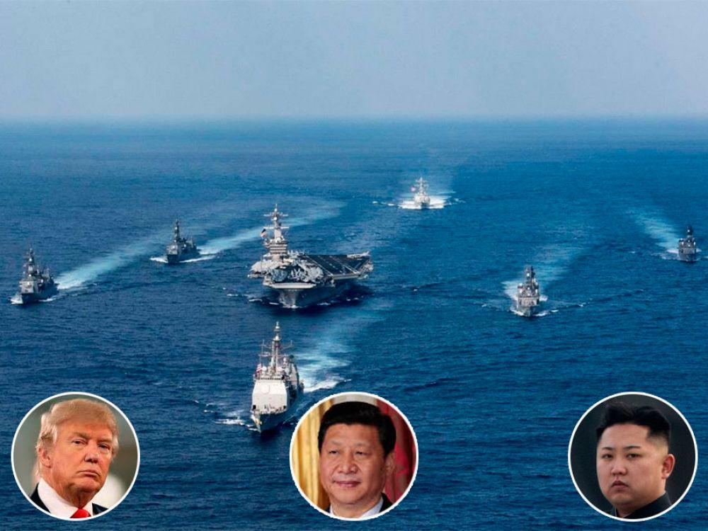 Washington envió el portaaviones USS Carl Vinson a las costas coreanas