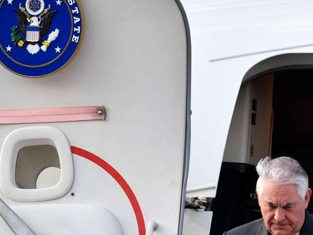 El secretario de Estado Rex Tillerson llega a Moscú