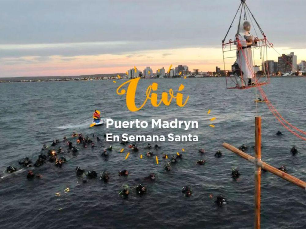 El 14° Via Crucis submarino, único en el mundo, se realizará en Puerto Madryn