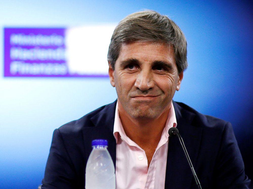 Luis Caputo, El titular de la cartera de Finanzas