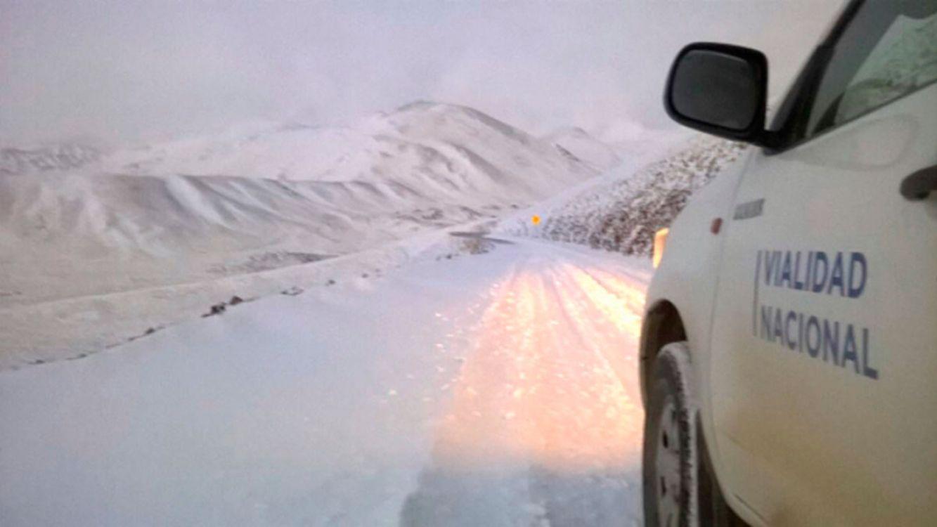 Nevada en la Puna salteña: Pasos de Jama y Sico cerrados