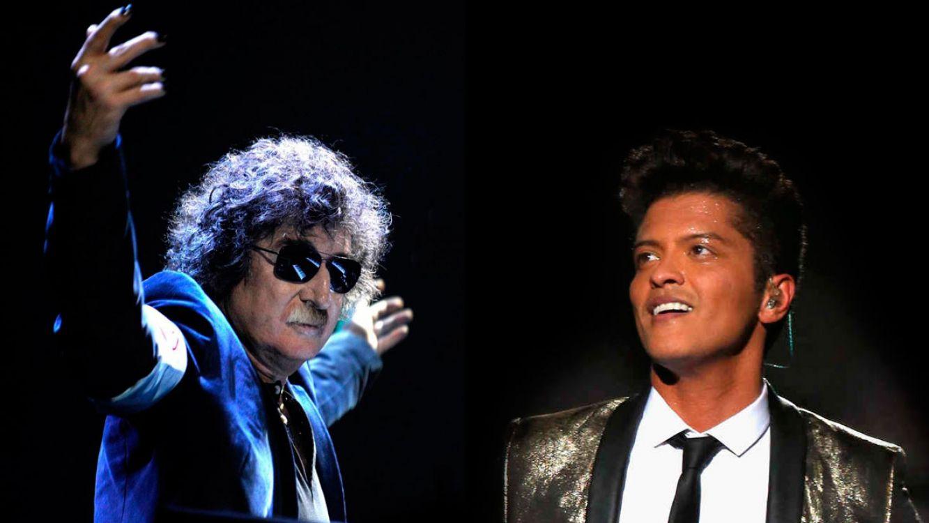 Charly García le exige 2 millones de dólares a Bruno Mars