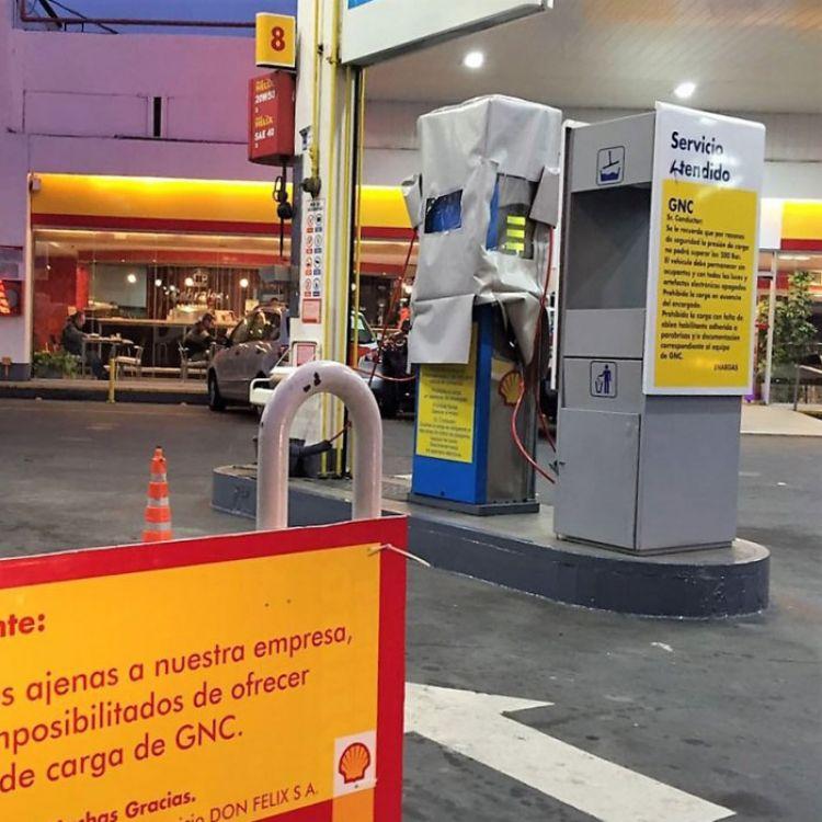 Suspenden suministro de GNC en una estación de servicio Shell salteña.