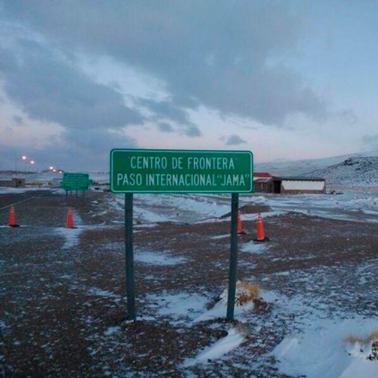 Paso de Jama cerrado por intensan nieves
