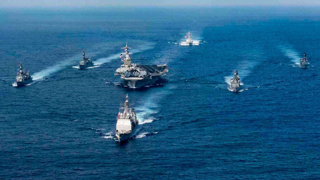 La llegada del portaaviones reaviva la tensión en la península coreana