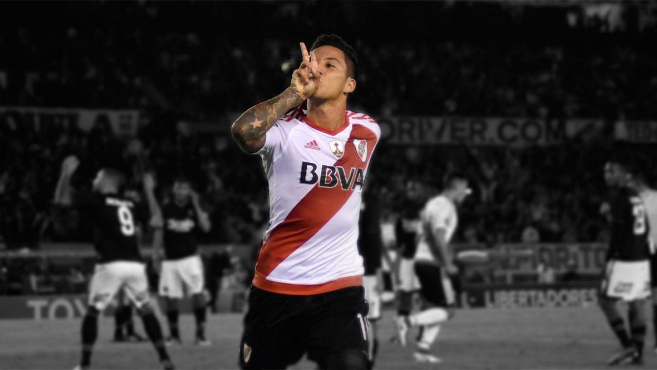 Sebastián Driussi festejando su gol
