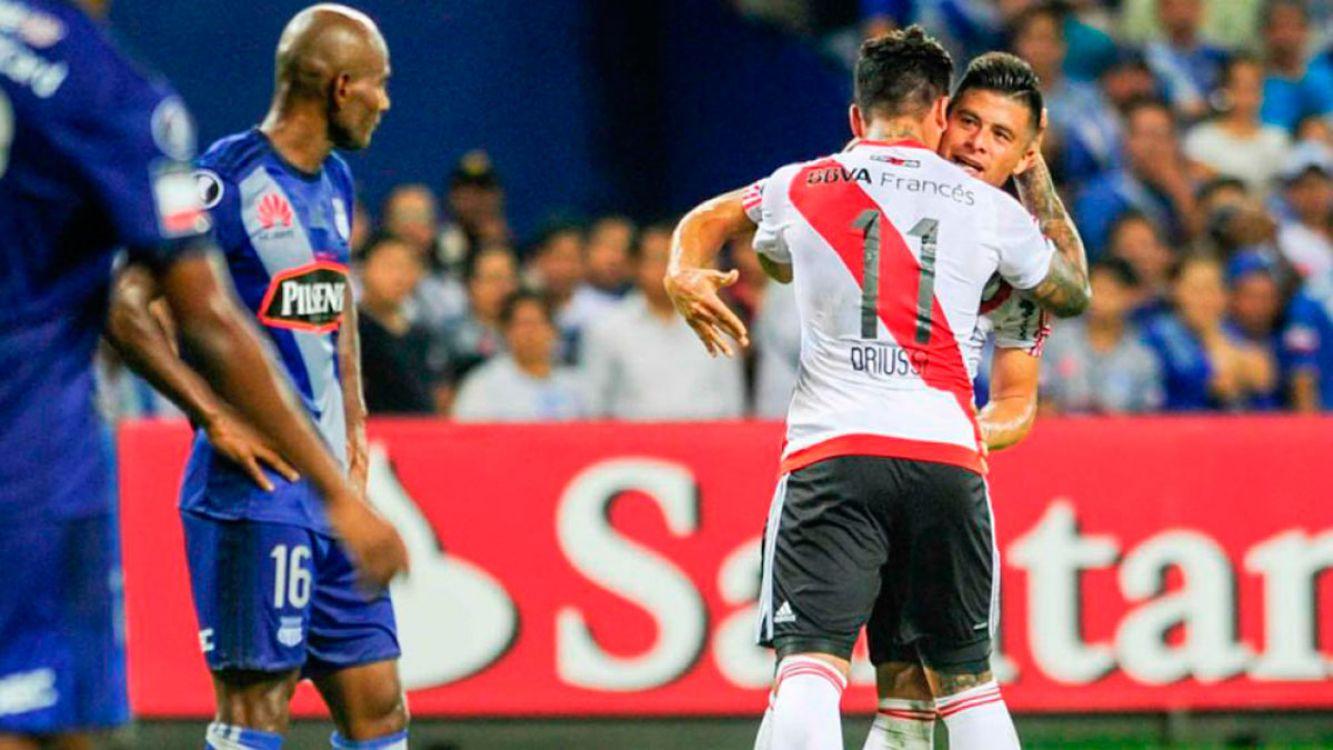 River le ganó a Emelec en Ecuador y tiene un pie en los octavos de la Copa