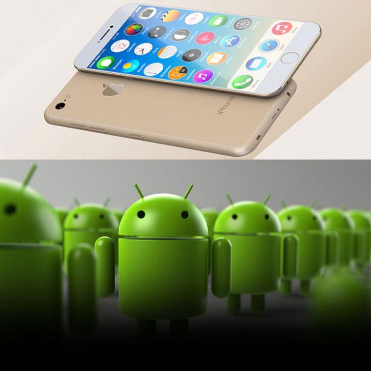 IPhone y Android compiten en el mercado por la funciones e innovaciones de sus nuevos dispositivos.