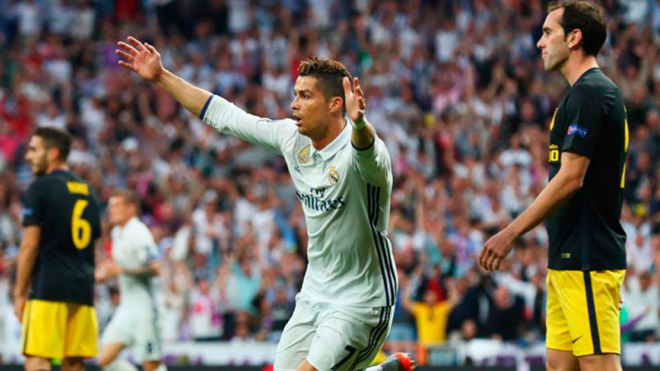Hat-trick para Cristiano. Real goleó al Atlético y tiene a un paso la final