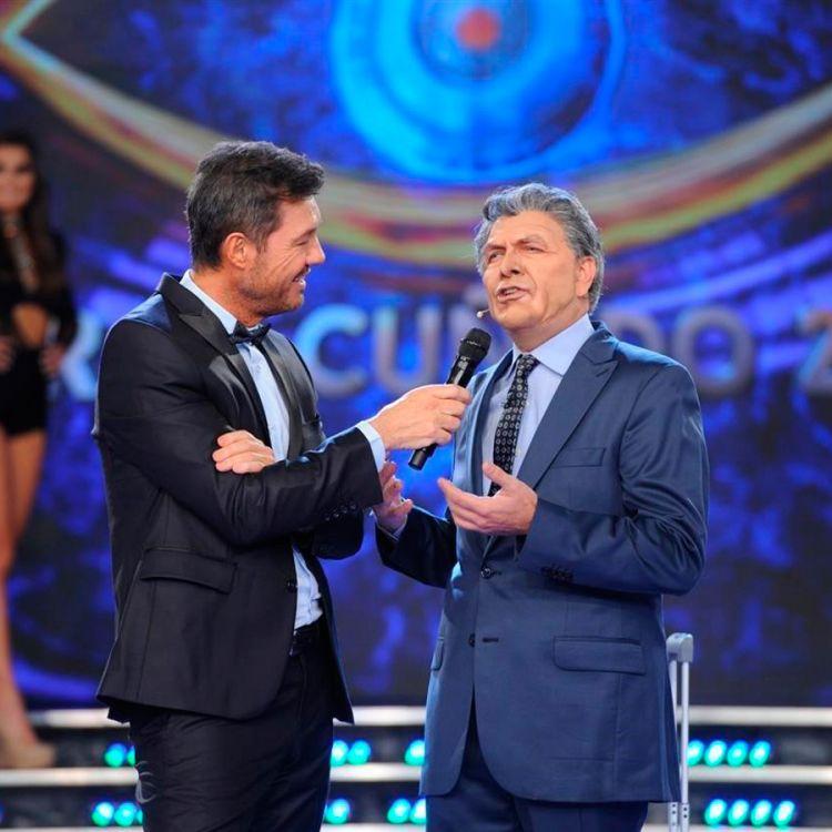 """Marcelo Tinelli y """"Mauricio Macri"""" interpretado por Freddy"""