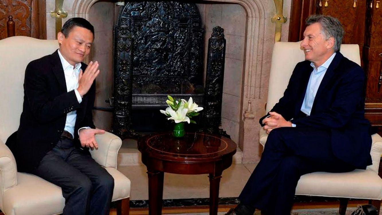 Participaron del encuentro el presidente Mauricio macri y el empresario chino Jack Ma
