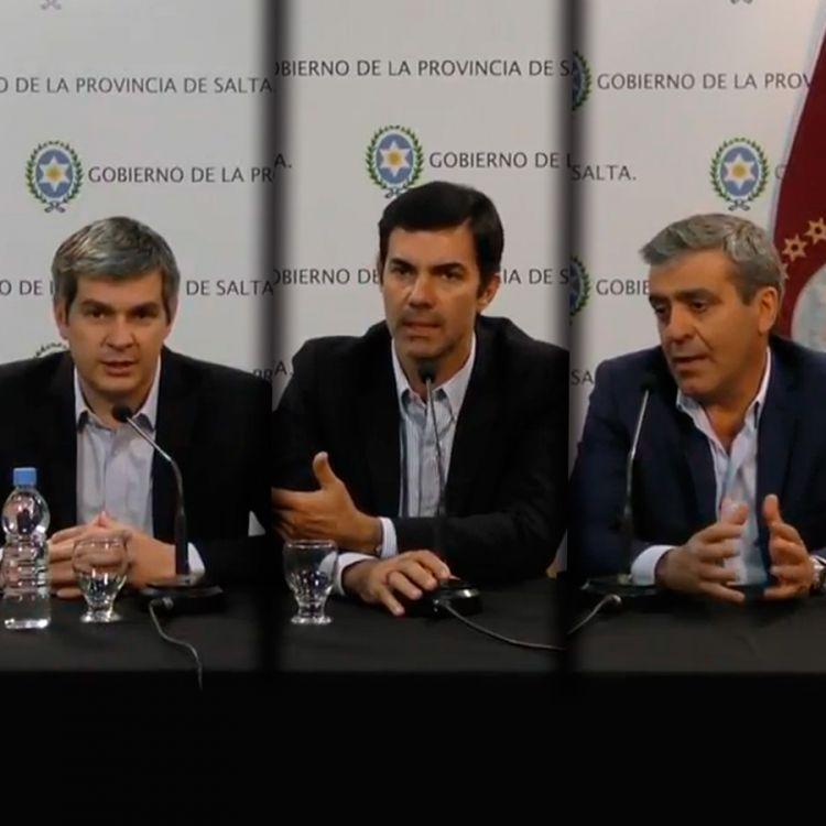 Conferencia de Prensa Marcos Peña, Juan Manuel Urtubey y José Cano