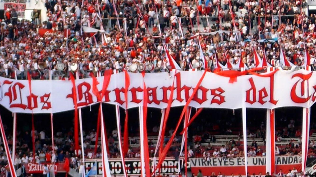 Los Borrachos del tablón, una de las hinchadas de River Plate