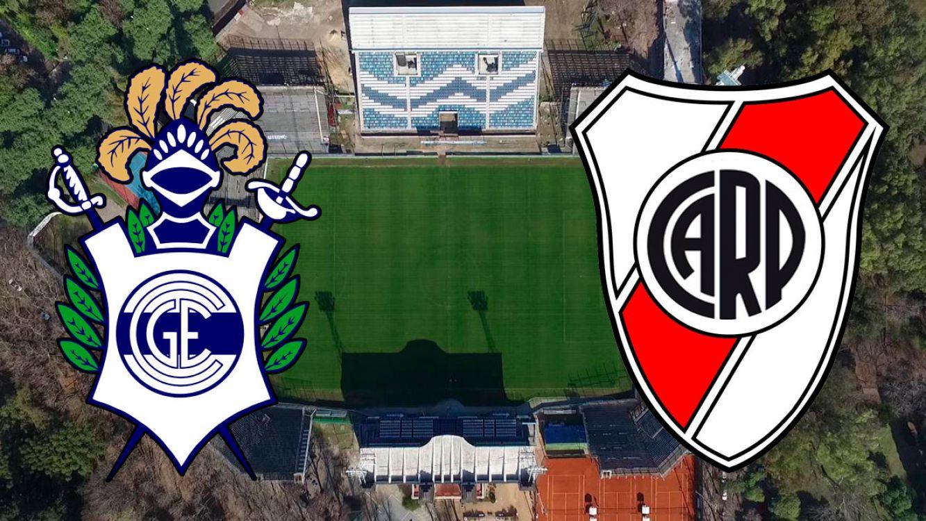 Gimnasia y Esgrima vs River Plate desde las 21:15.