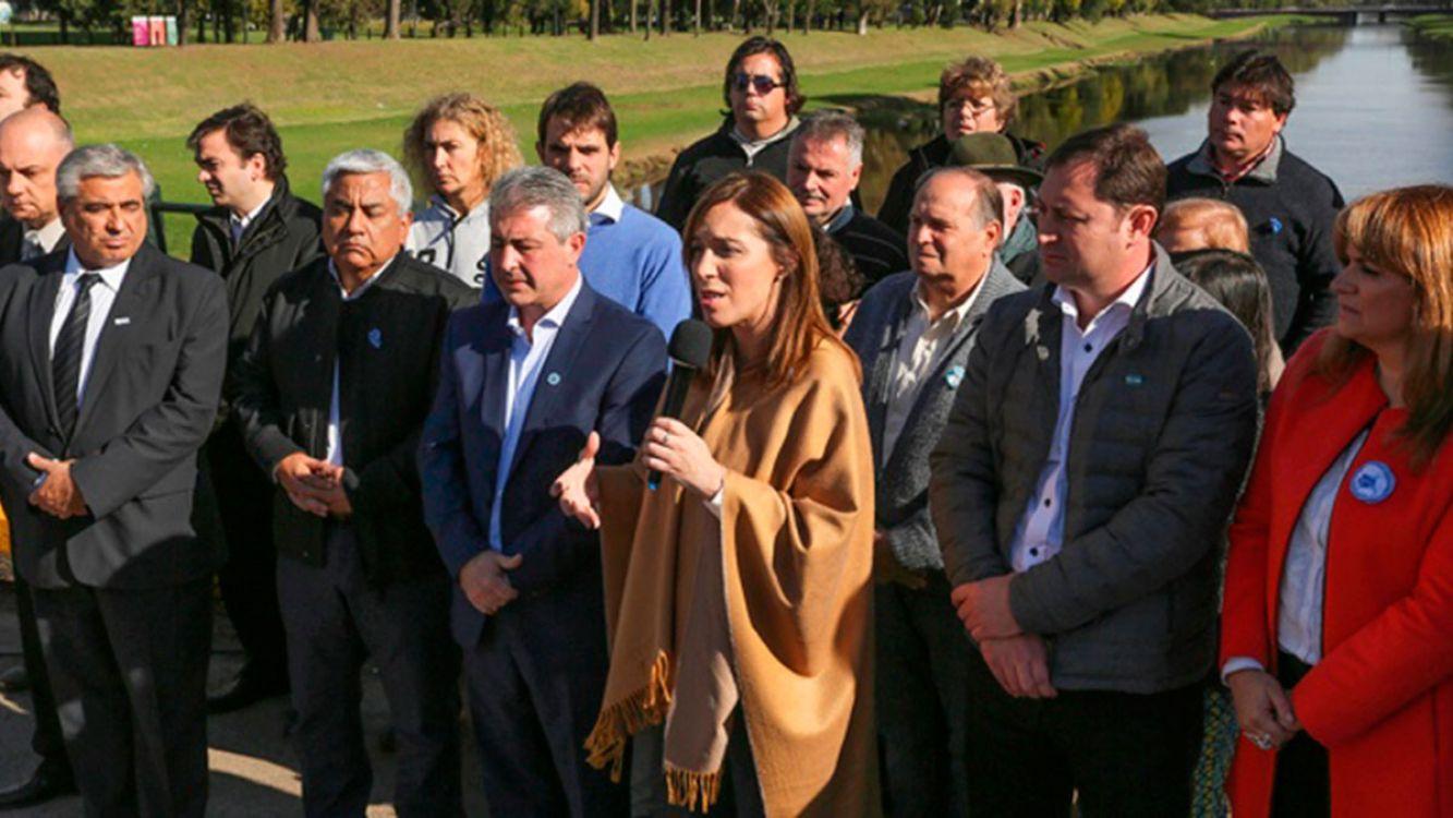 Vidal en Pergamino. Anunció un megaplan hidráulico de 48 obras hidráulicas en 15 municipios bonaerenses