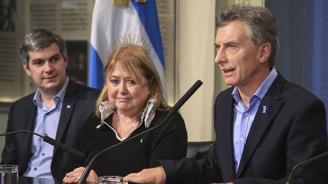 Marcos Peña, Susana Malcorra y Mauricio Macri