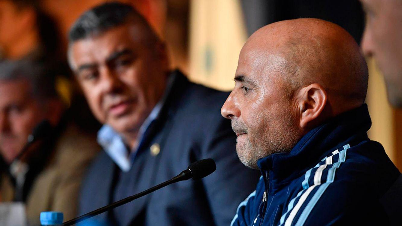 Jorge Sampaoli asumió como técnico de la Selección Argentina.