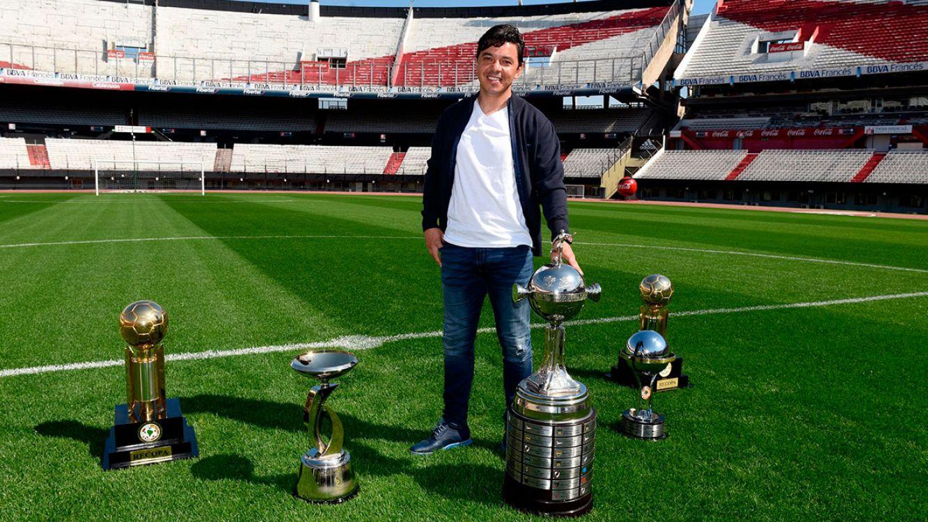 Marcelo Gallardo ganó con River Plate, 5 de 6 títulos en el plano internacional