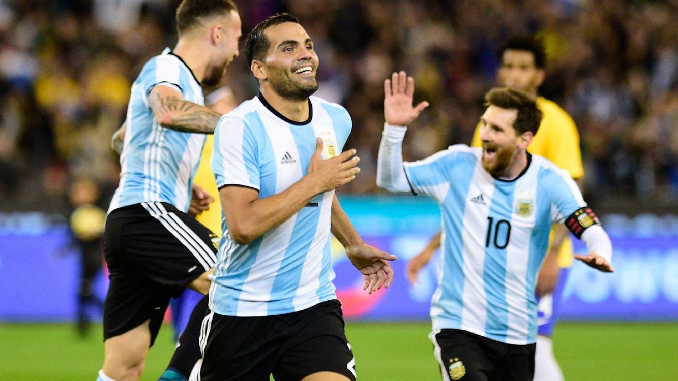 Gol de Gabriel Mercado. Argentina le ganó 1-0 a Brasil