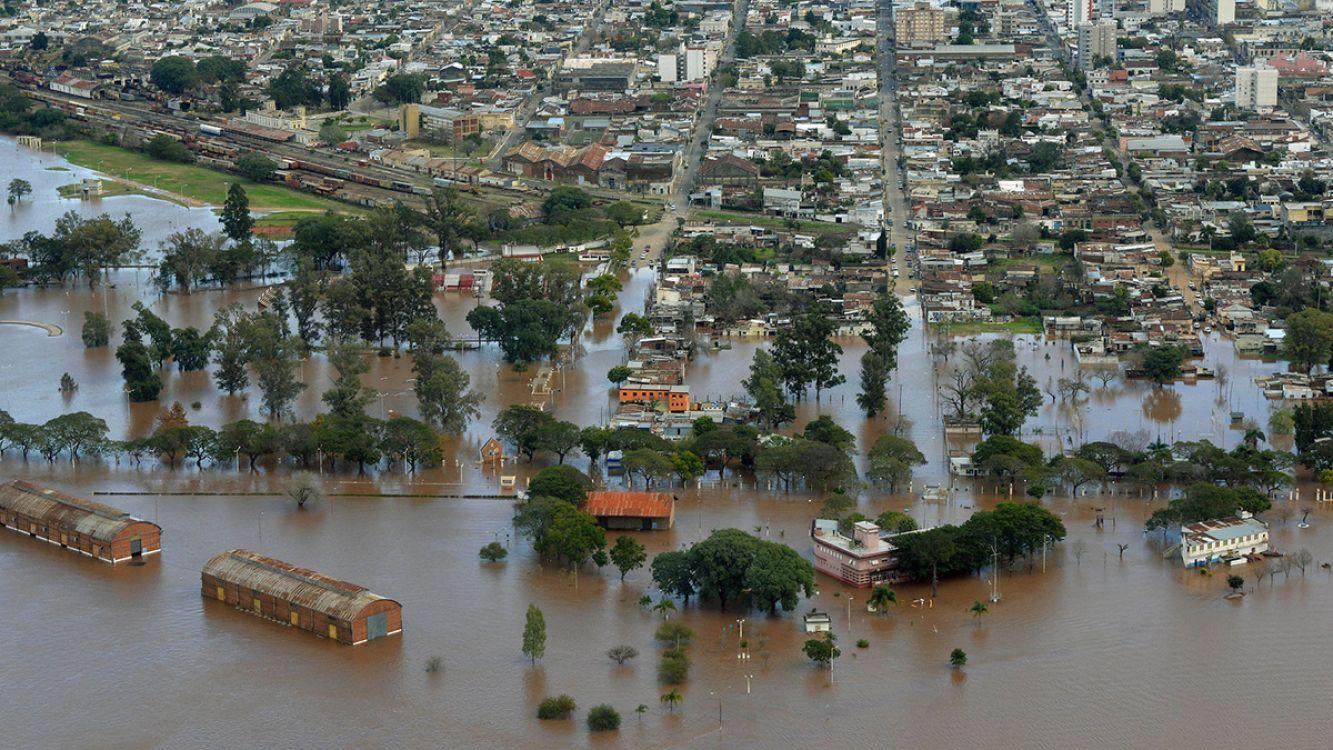 La crecida del río Uruguay puso en alerta roja Entre Ríos, Corrientes y Formosa