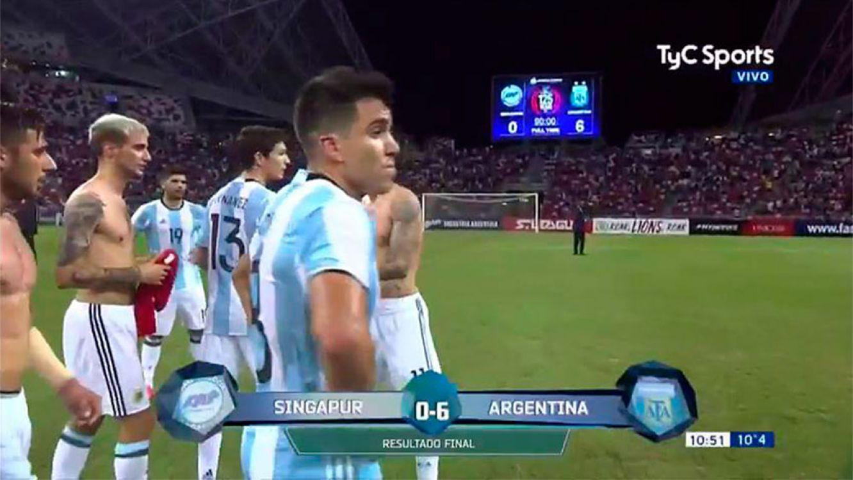 Contundente el seleccionado argentino, le ganó 6-0 a Singapur