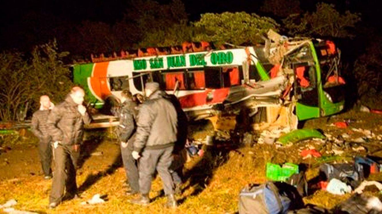 Un Colectivo de la empresa de transporte Río San Juan del Oro volvó en Catamarca