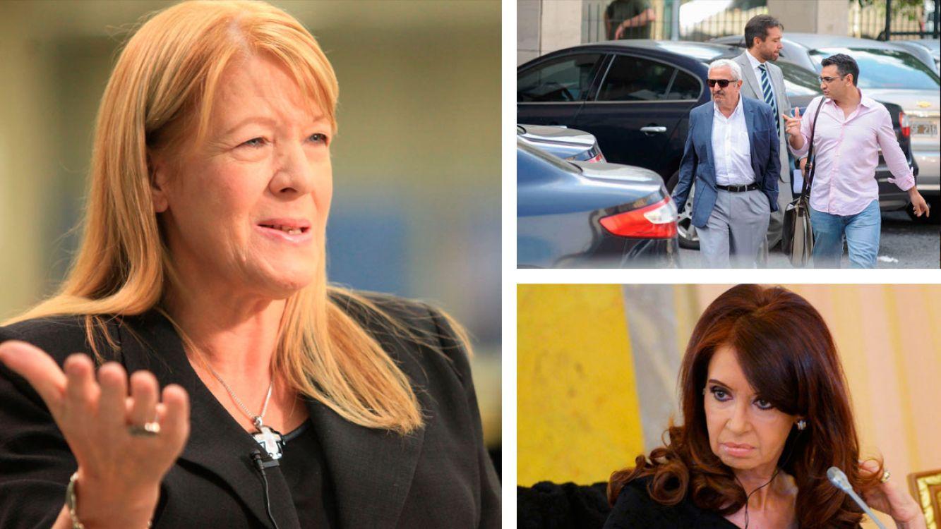 Margarita Stolbizer, Osvaldo Sanfelice y Cristina Fernández de Kirchner