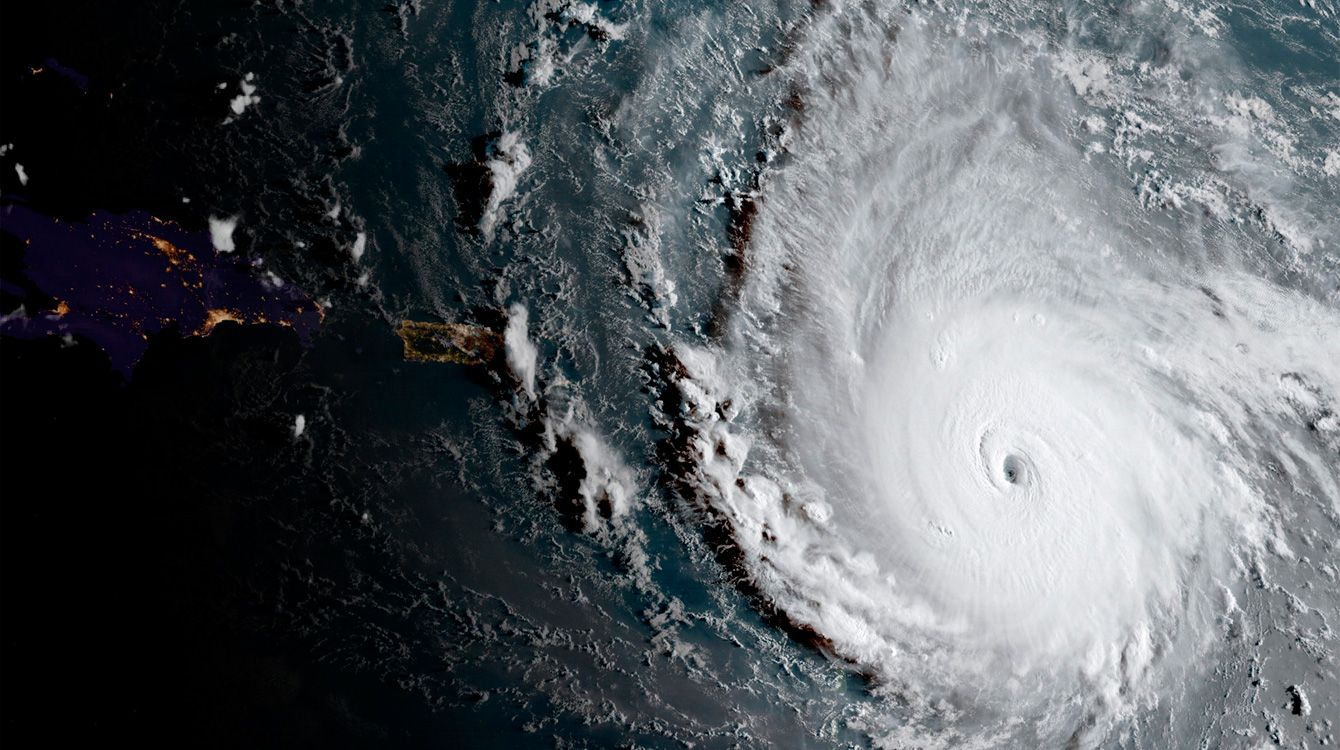 Huracán Irma, vista satelital