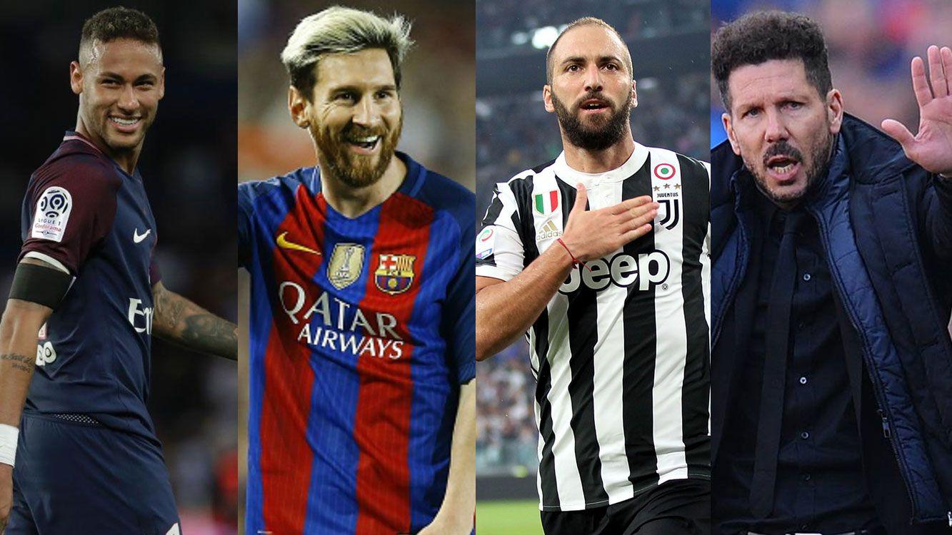 Los protagonistas de la fecha de champions league.