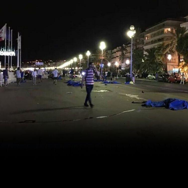 Gran cantidad de cuerpos en la Fiesta Nacional. Conmoción en Francia frente al atentado terrorista.