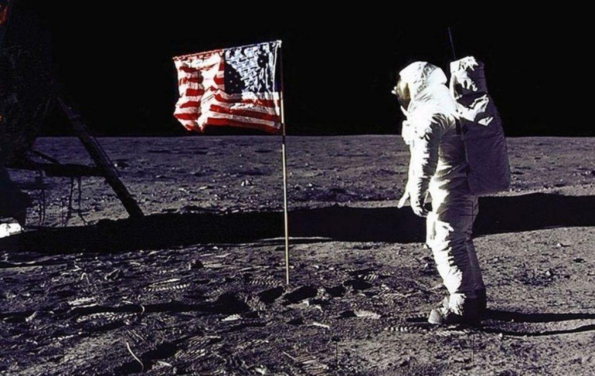 Una imagen de la primera llegada del hombre a la Luna, en julio de 1969