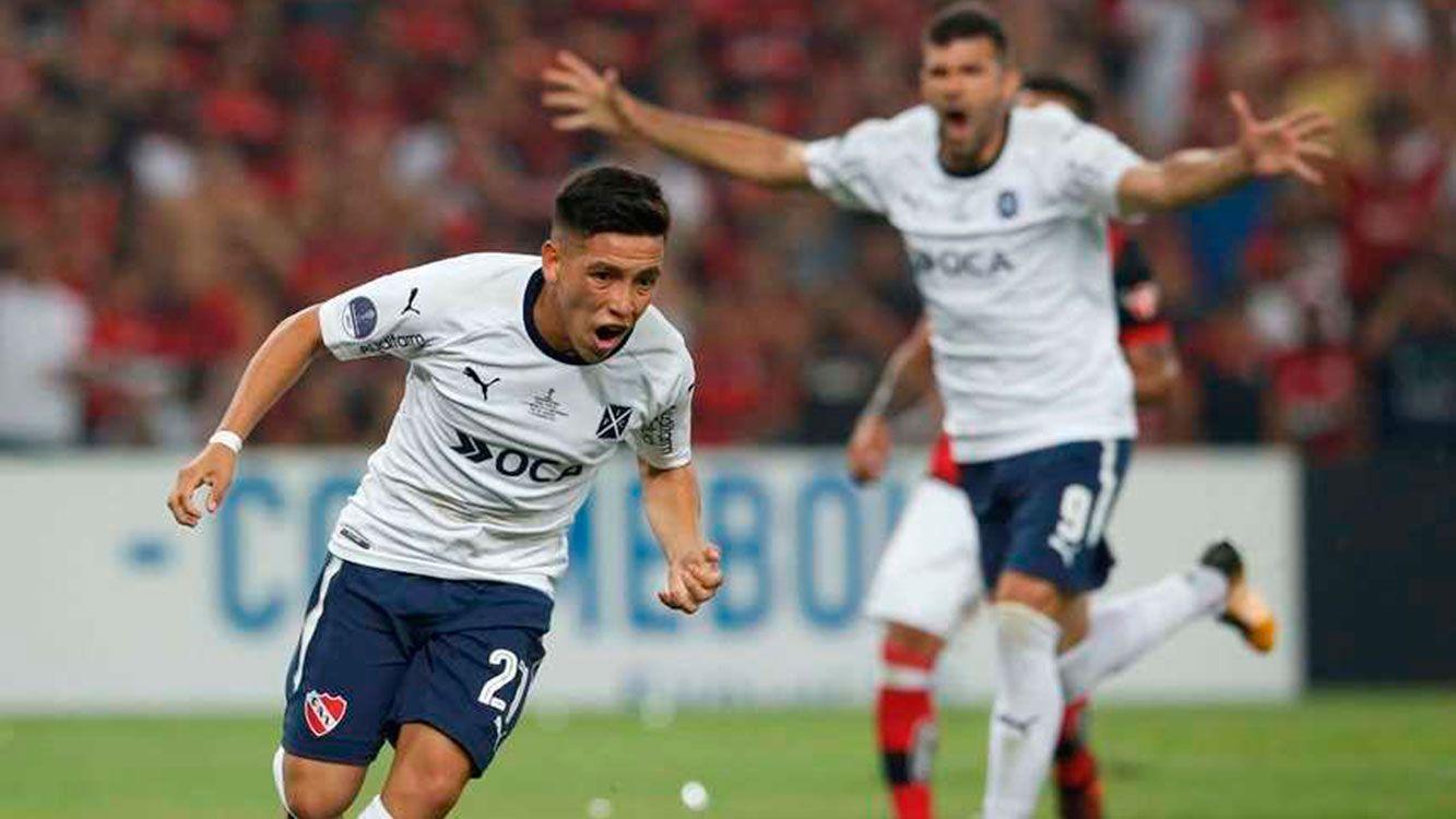 Independiente campeón de la Copa Sudamericana 2017. Barco festeja su gol