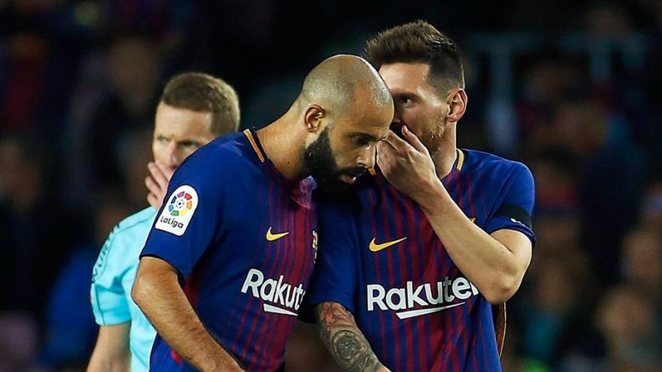 El defensor argentino se marcha del Barcelona para buscar más actividad antes del Mundial de Rusia.
